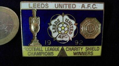 Leeds United AFC 1992 Brosche Vintage Champions Winners Badge