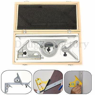 180 Degrees Combination Square Set Protractor With Angle Finder Ruler Measuring