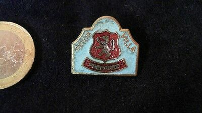 Aston Villa PREPARED FC Brosche Football Logo rar Vintage Badge 80s kein Pin