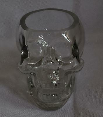 Nemesis Now GOTHIC CLEAR HUMAN SKULL GLASS CANDLE HOLDER Magic Wiccan Pagan