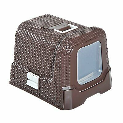 Pawhut Large Litter Box Self Cleaning Cat Box Enclosed Cat Pan With Scoop