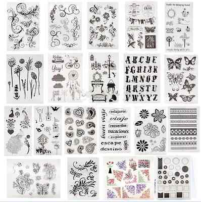 Silicone Rubber Clear Stamp Seal Scrapbooking Diary Card DIY