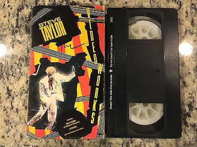 Steve Taylor Video Works Rare Vhs! Not On Dvd! 1985 Live + Interviews Christian!