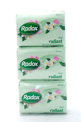 Radox Bar Soap Feel Radiant with Rose & Jasmine Scent 125g Bars (PACK OF 3)