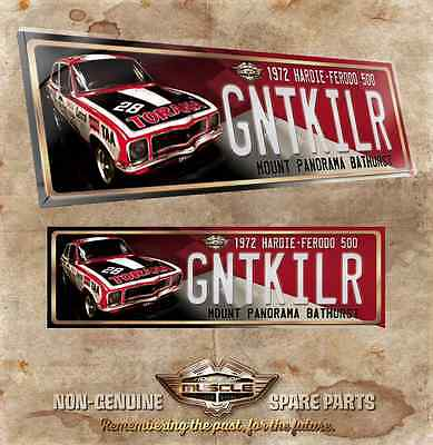 TORANA GTR XU1 NUMBER PLATE ACRYLIC 37.5cm X 11cm 5mm thick, Only 50 done