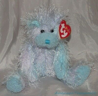 "NEW 2002 TY Beanie PUNKIES Plush Shaggy Ombre Blue 9"" Wild TWIZZLES The BEAR"
