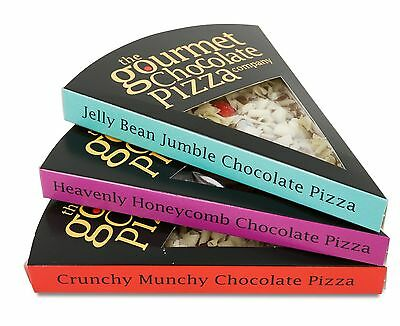 Gourmet Chocolate Pizza Company Belgian Milk Chocolate Pizza Slice Flavour Gift