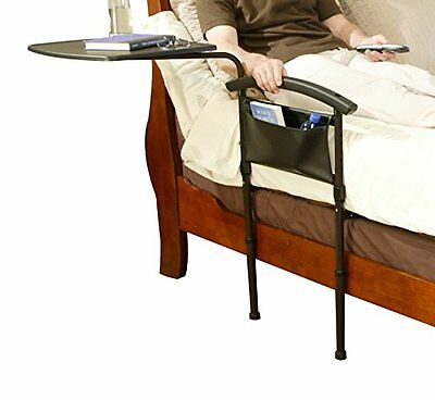 Stander Independence Bed Table -2 in 1 Overbed Table and Home Bed Rail Stand