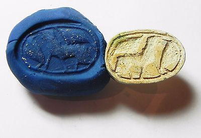 Zurqieh -Af706- Ancient Egypt ,2Nd Intermediate Stone Scarab. 1782 - 1570 B.c