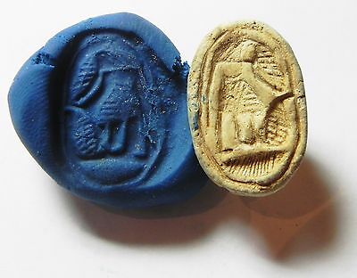 Zurqieh -Af710- Ancient Egypt ,2Nd Intermediate Stone Scarab. 1782 - 1570 B.c