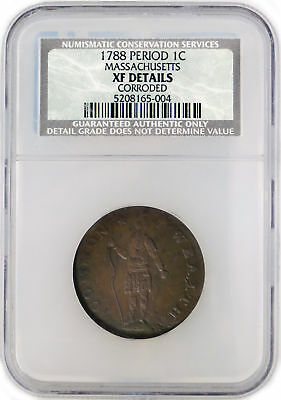 1788 1C Massachusetts Copper NCS XF Details