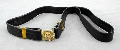 Hilborn Hamburger United States US Military Navy Officer's Black Leather Belt