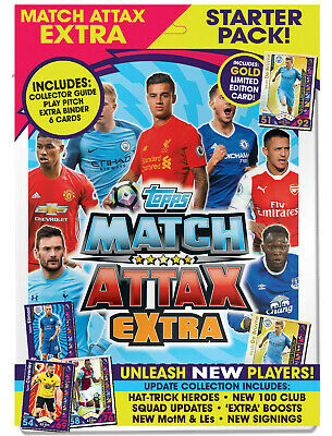 Topps MATCH ATTAX EXTRA EPL 2016 2017 Starter Pack Album Binder De Bruyne Gold