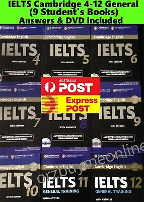 Cambridge IELTS 1-10 + general 11 Student's Book with Answers Exam Papers + DVD