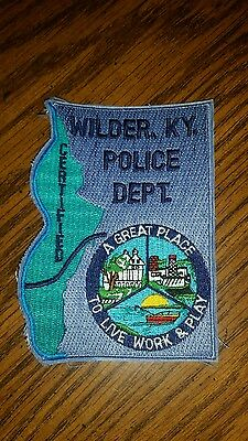 VINTAGE WILDER KENTUCKY POLICE DEPT. SHOULDER PATCH  kentucky sheriff law patch