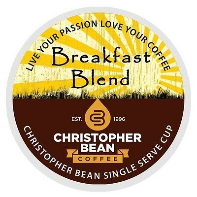 Christopher Bean Coffee Breakfast Blend Single Cup K Cups One 18 Count Box