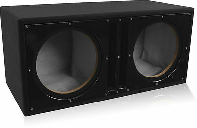 "Belva BBX212BK Dual 12"" Ported Subwoofer Enclosure w/ Custom Satin Black Baffle"