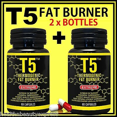 120 T5 Fat Burner Capsules Pure Strongest Legal Slimming Pills Weight Loss Diet