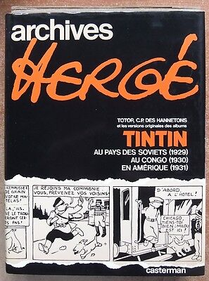 Archives Herge T.1 - Reed. 1979 - Totor + 3 Premiers Albums Tintin