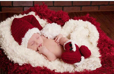 Newborn Baby Boys Girls Knitted Christmas Costume for Photo Photography Props