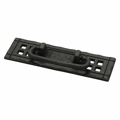 Liberty Hardware PN8005 Flat Black Mission Series 4-1/4 Inch Center to Center