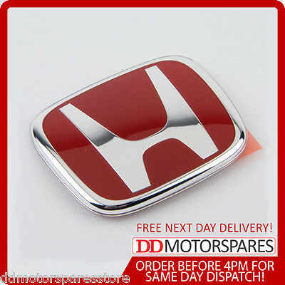 Genuine Honda Civic Accord Front Red Grille Badge Emblem Type R Ep2 Ep3 2002-12