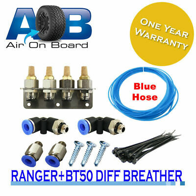 Diff Breather Kit 103B 4 WAY blue hose MAZDA BT50 FORD Ranger Courier