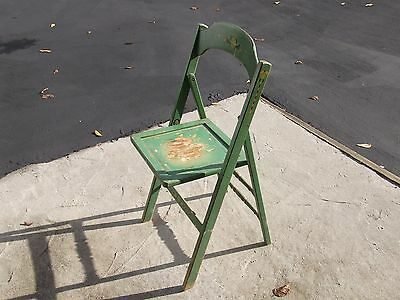 Vintage Antique IDEAL Wood Folding Chair -- RARE-- Garden Decorative Chair • £69.79
