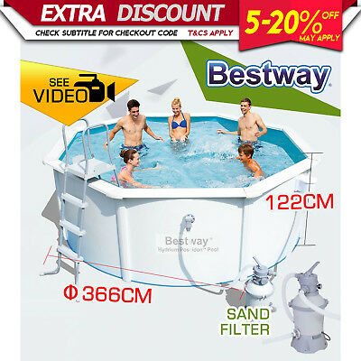 NEW BESTWAY ABOVE GROUND SWIMMING POOL Steel Pro Frame Sand Filter Pump 56575