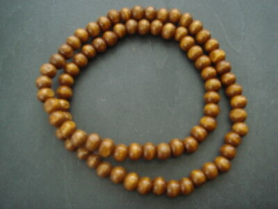 "Brown wood bead necklace surfer style 16"" 18"" 19"" 20"" 21"" 22"" 24"" 30"""