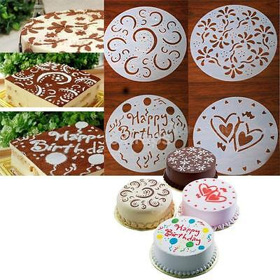 4PCS Cake Mold Chocolate Cream Cutter Fondant Sugarcraft Decorating Mould Tools