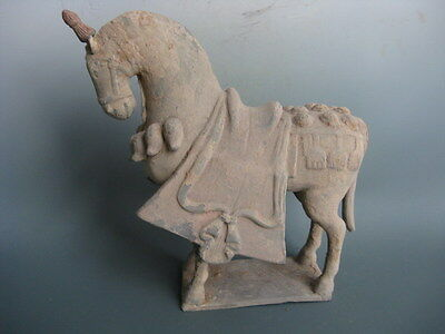 One Rare Beautiful Han Dynasty Pottery Horse With Saddle