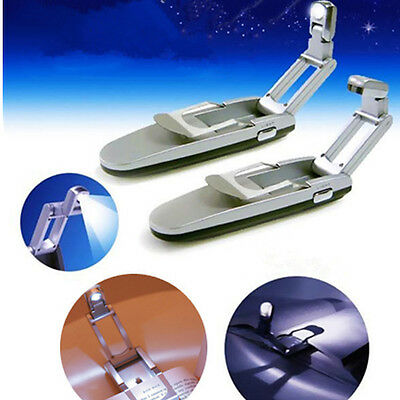 Mini Portable LED Clip On Stand Booklight Book Light Reading Lamp Travel Camping
