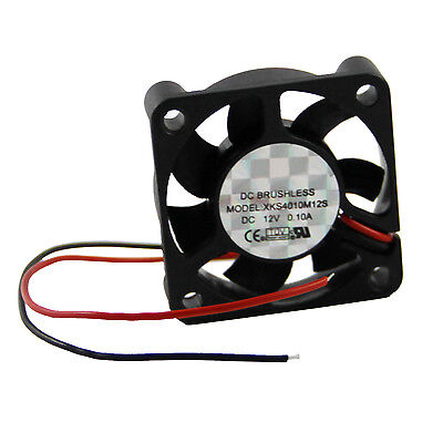 2X(2 Pcs 2 Pin 40mm Square PC Computer Cooler Cooling Fan DC 12V
