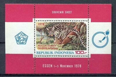 38358) INDONESIA 1977 MNH** Animals s/s