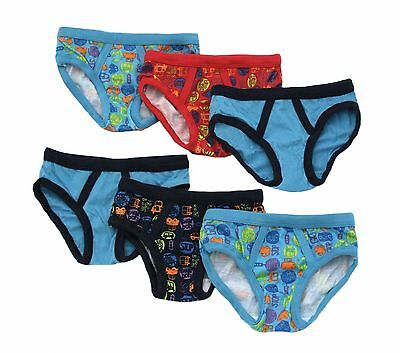 Bright Bots Boys Pants Briefs (3-4 Years Undies Pack of 6, Blue Multi) New