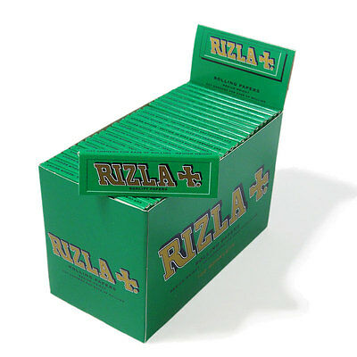 Rizla Green Regular Rolling Papers - Box of 100 Booklets New uk