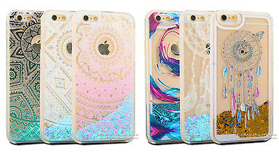 Clear Dynamic Liquid Quicksand Glitter Hard Case for iPhone 7 6 6s Plus 5 SE
