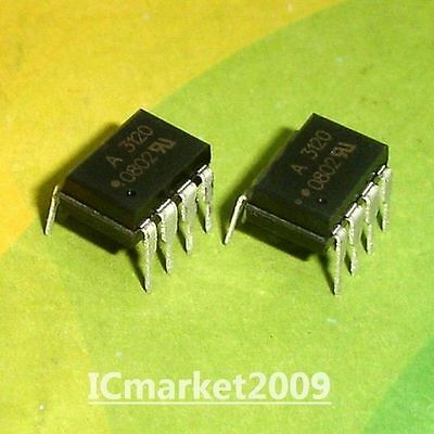 5 PCS HCPL-3150 DIP-8 HCPL3150 A3150 0.5 Amp Output IGBT Gate Drive Optocoupler