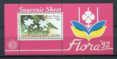 38373) INDONESIA 1992 MNH** Flora s/s
