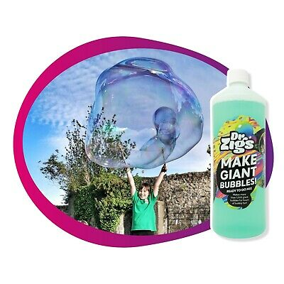 Giant Bubbles Kiddie Starter Kit Small For Kids by Dr Zigs for Outdoor Kids Fun