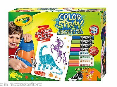 Color Spray Gioco educativo con Aerografo e 8 pennarelli Crayola 8738 Nuovo
