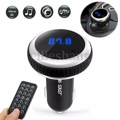 Bluetooth Coche Reproductor MP3 Player Wireless FM Transmisor Manos Libre TF LCD