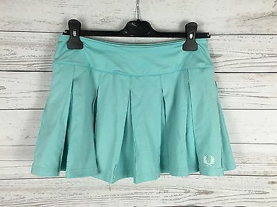 Women's Fred Perry Pleated Tennis Skirt - UK12 - Mint Green - Great Condition
