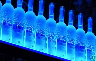 Home Bar Light Shelves - Made in the USA - 2 Long RGB LED Wireless Remote Bottle