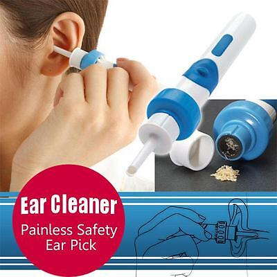 Portable Painless Cordless Electric EAR PICK Wax Remover Vacuum with Retail Box