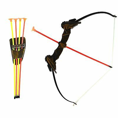 Kids Childrens Plastic Bow And Arrow Archery Set Garden Outdoor Fun Game