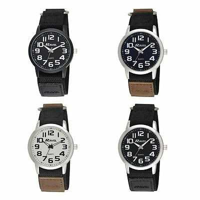 Ravel Gents Nylon Strap Sports Bold Arabic Dial Watch R1601.64