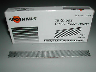 "18 Gauge 1/2"" Inch Brads Galvanized Brad Nails for Bostitch Senco (5,000)"