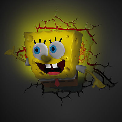 3D FX Spongebob Squarepants - Nickelodeon, night light, wall, light, kids, child